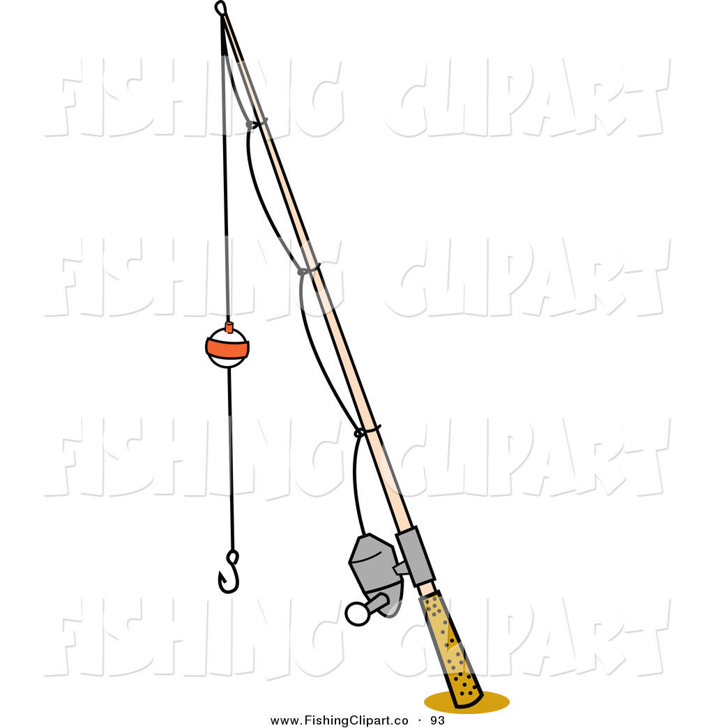 Larger Preview: Clip Art of a Bobber on a Fishing Pole on ...