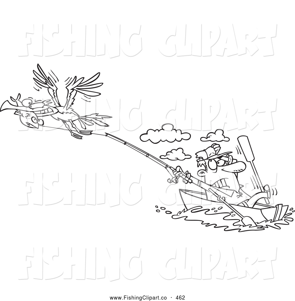 Free Fishing Rod Coloring Pages