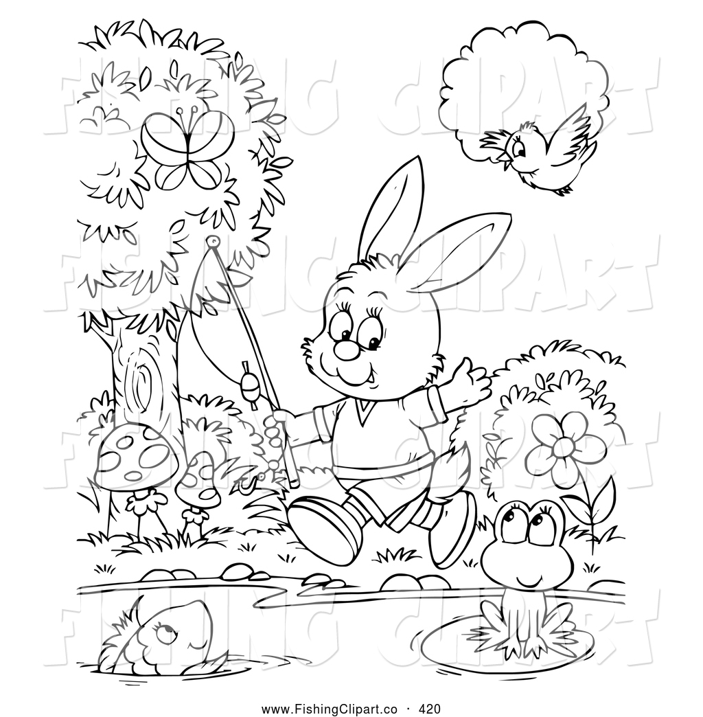 Free Image Of A Girl Fishing Coloring Pages