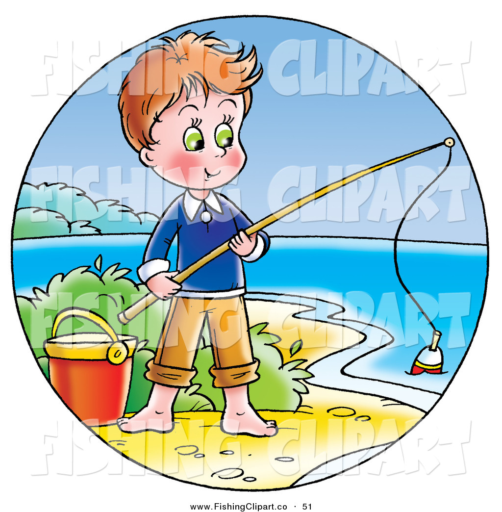 Larger Preview: Clip Art of a Cute Boy Standing by a Pail ...