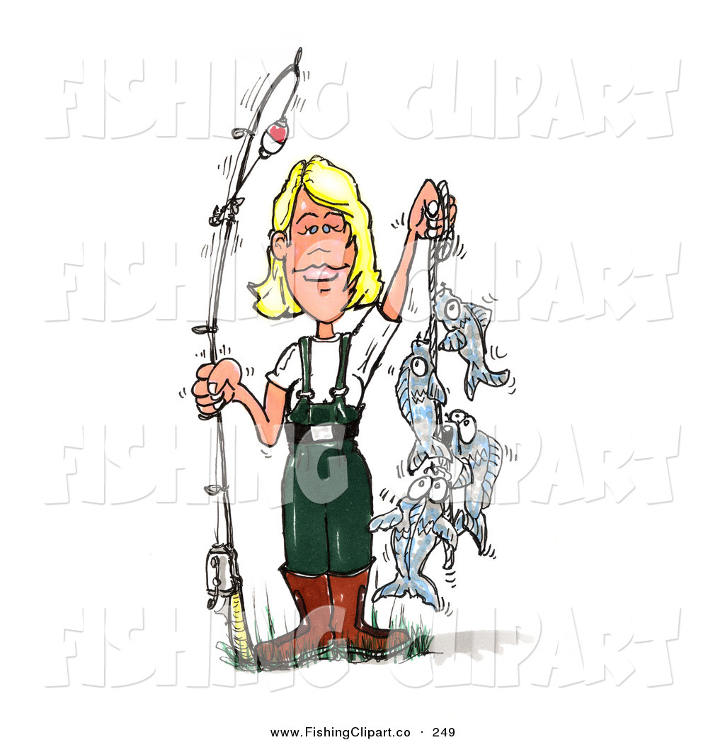 Royalty Free Female Stock Fishing Designs