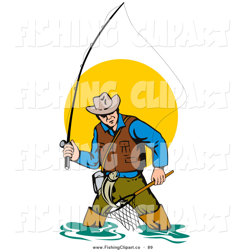 Royalty Free Wading Stock Fishing Designs