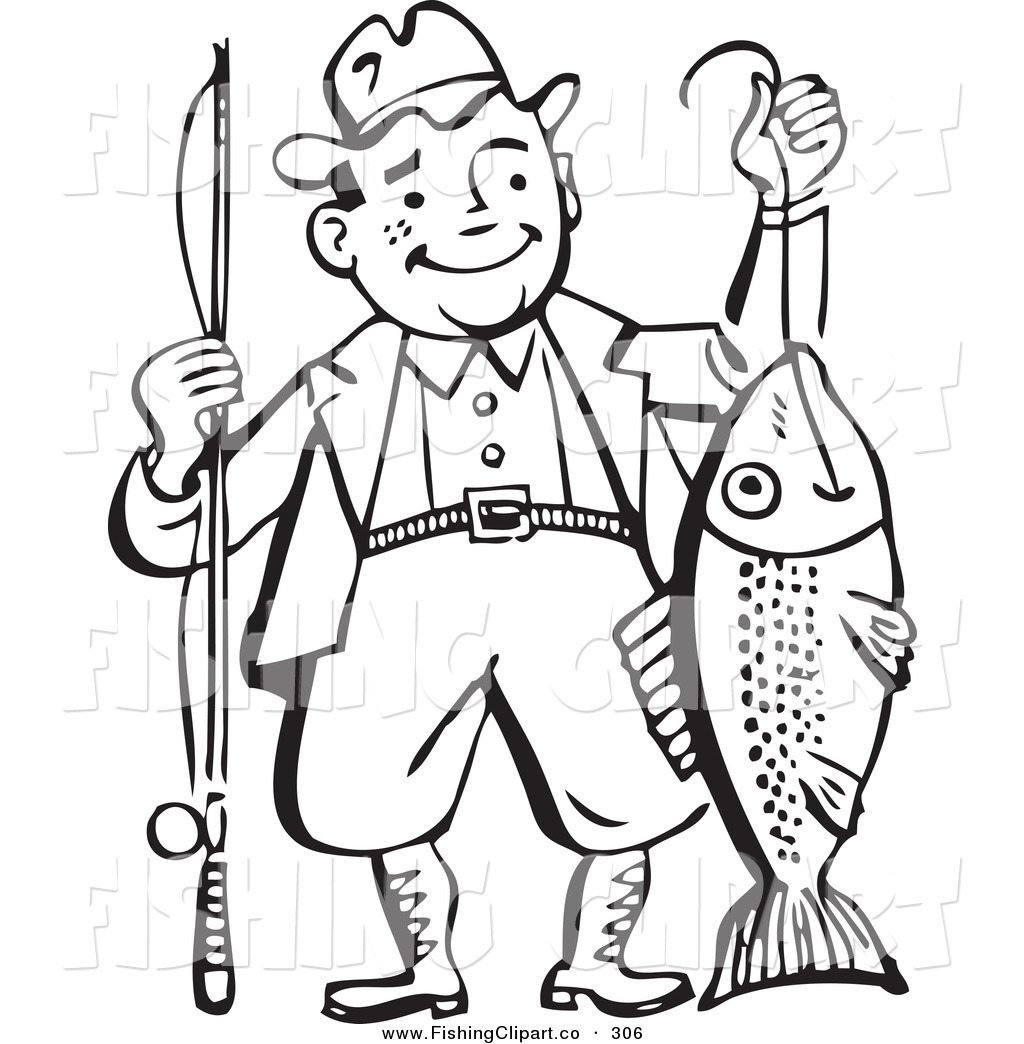 Royalty Free Men Stock Fishing Designs