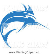 Clip Art of a Blue Marlin Fish by Vector Tradition SM