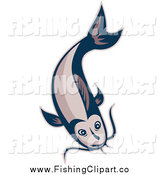 Clip Art of a Catfish Swimming by Patrimonio