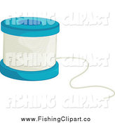 Clip Art of a Fishing Line Spool by Colematt