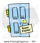 Clip Art of a Gone Fishin by Johnny Sajem