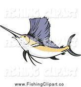 Clip Art of a Sailfish by Patrimonio