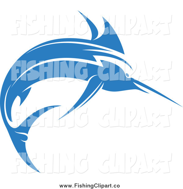 Clip Art of a Blue Marlin Fish