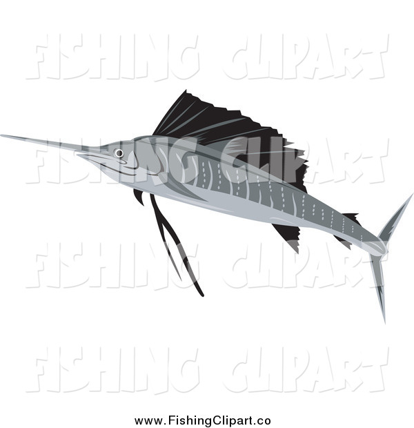 Clip Art of a Sailfish
