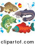 Clip Art of River Fish by Visekart