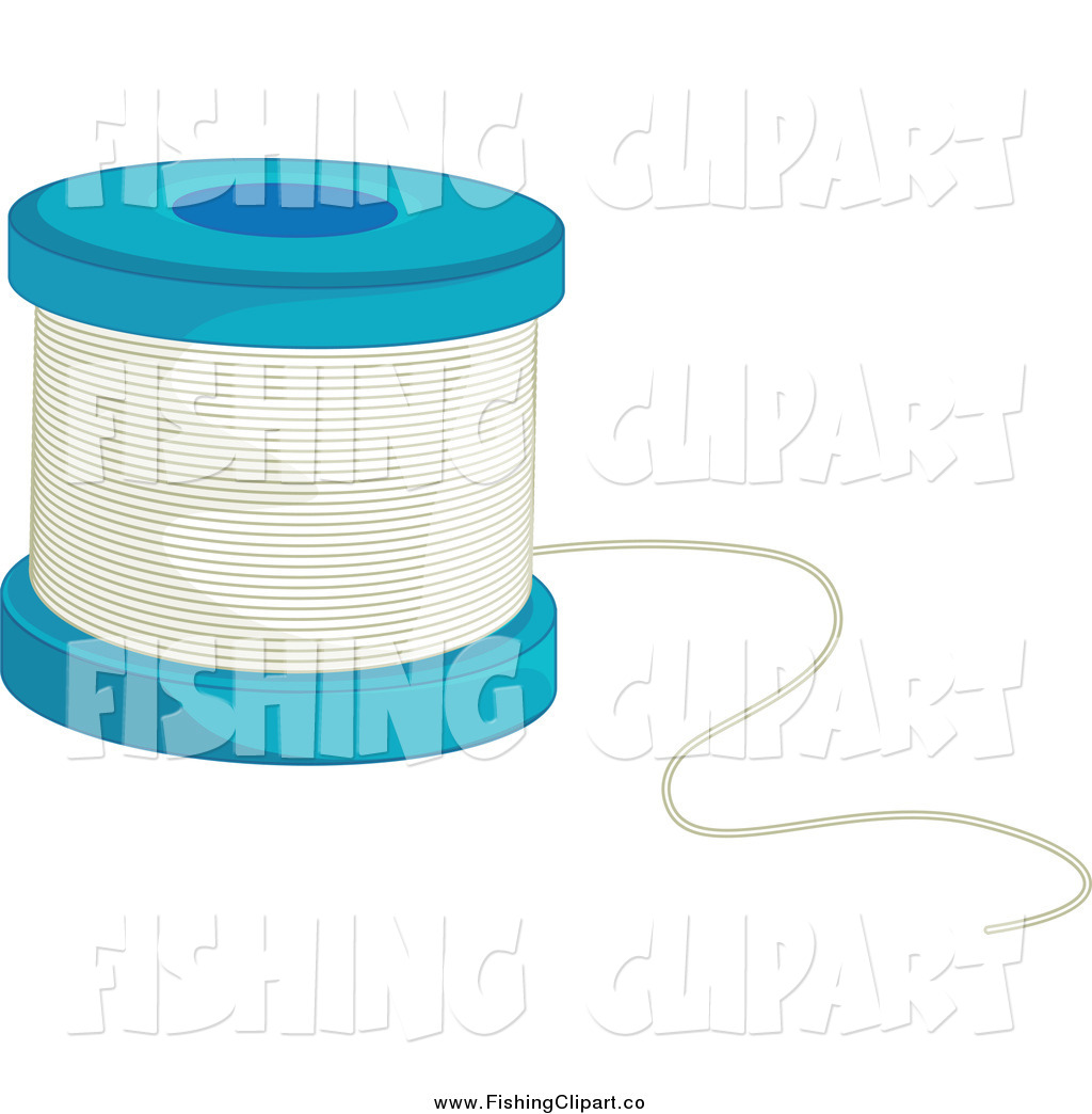 Clip Art of a Fishing Line Spool by Graphics RF - #829