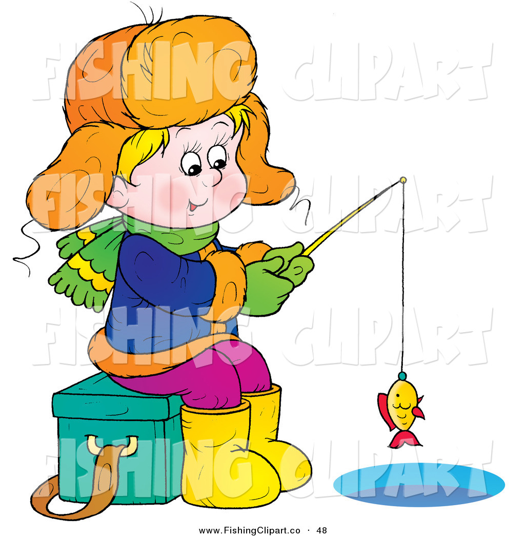 clip art of a happy boy sitting on an ice chest while ice fishing rh fishingclipart co ice fishing clipart free