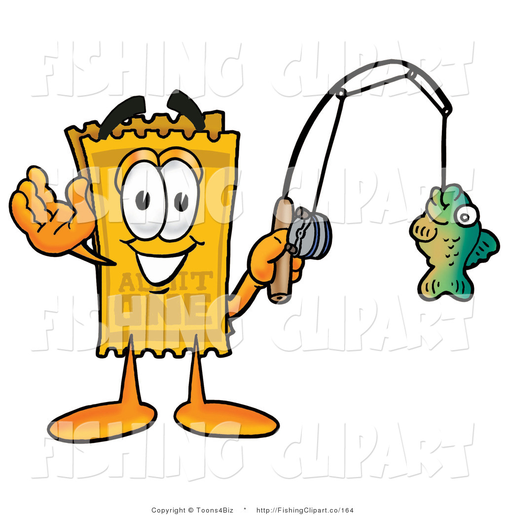 clip art of a yellow admission ticket stub mascot cartoon character rh fishingclipart co ticket stub clip art free ticket stub clip art free