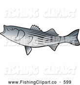 Clip Art of a Bass Fish by Lal Perera