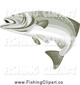 Clip Art of a Bass Fish by Patrimonio