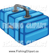 Clip Art of a Blue Tackle Box by Graphics RF