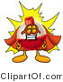 Clip Art of a Fishing Bobber Mascot Cartoon Character Dressed As a Super Hero and Grinning by Toons4Biz