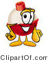 Clip Art of a Red and White Fishing Bobber Mascot Cartoon Character Pointing at the Viewer by Toons4Biz